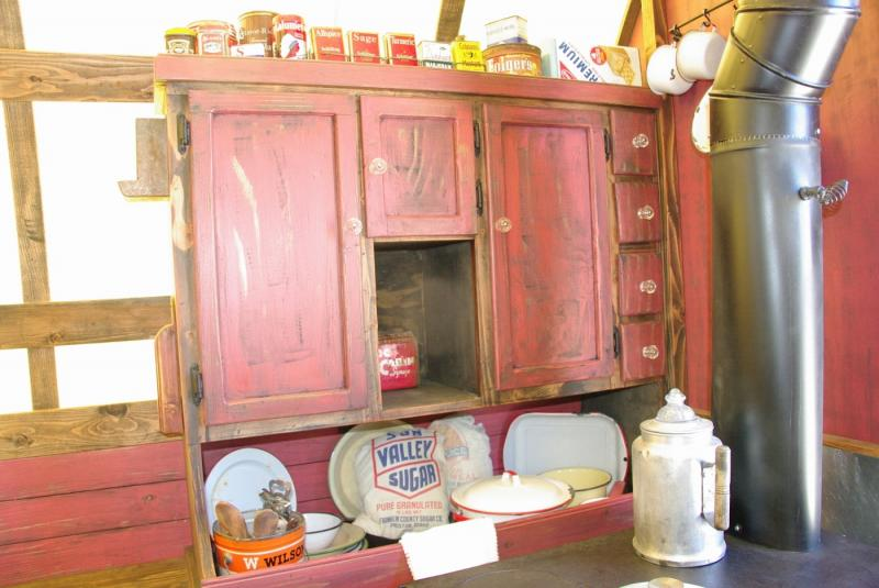 the kitchen cabinet was designed to add the look of rich and style for clint