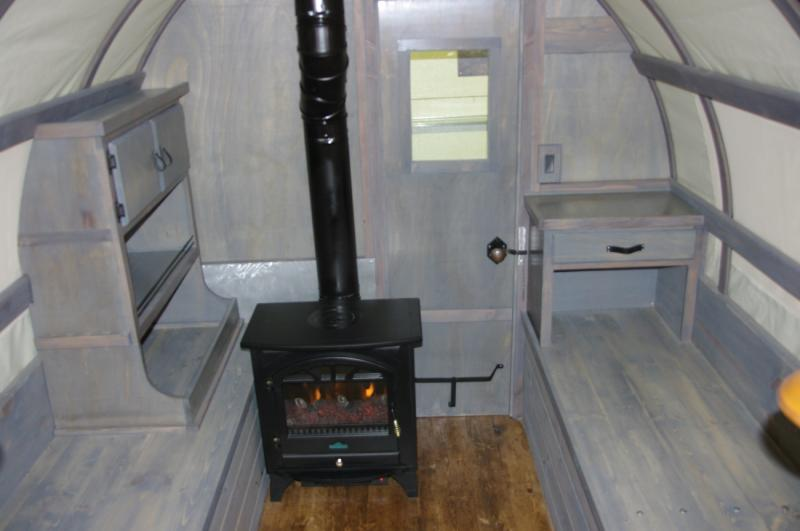 also an electric fire place was added to creat warmth in several ways